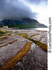 Northern Norway - A mountain sea landscape in northern...