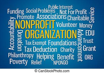 Nonprofit, organização,