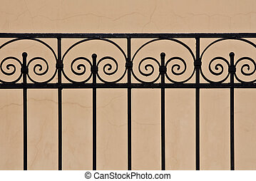 Beautiful old iron fence