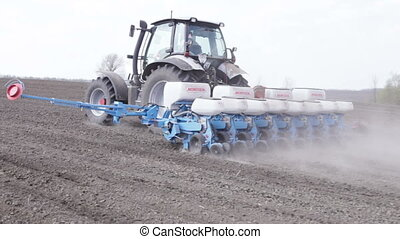 tractor with planter