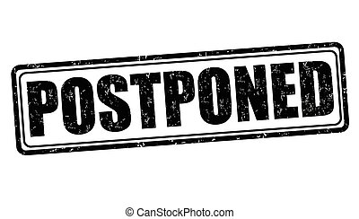 Postponed stamp - Postponed grunge rubber stamp on white...