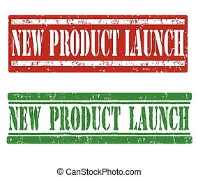 New product launch stamps - New product launch grunge rubber...