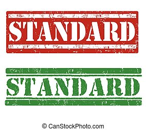 Standard stamps - Standard grunge rubber stamps on white...