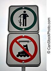 No biking sign