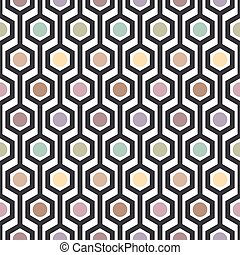 hexagon seamless pattern - vector illustration of seamless...