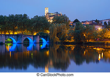 Limoges at night