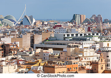 Valencia in a summer day