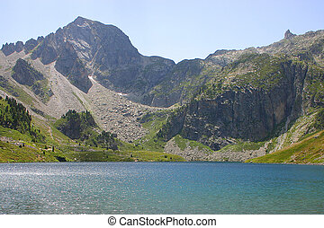 Lake Ilheou, Cyrque Du Lys, Cauterets - Pyrenees - Mountain...