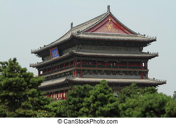 The Drum Tower of Xian in China