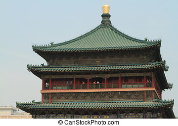 The Bell Tower of Xian in China