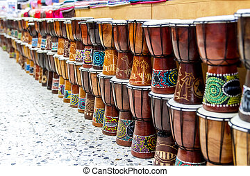 Arabic darbuka market . - Darbuka Arab market in the Old...