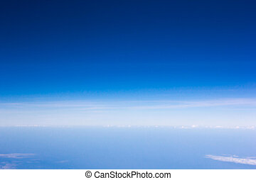 blue sky over cloud air view