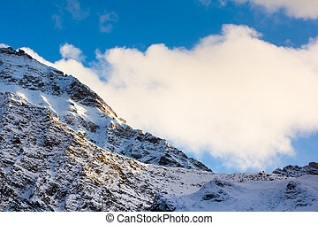 mountain snow landscape nature around the way to Huanglong
