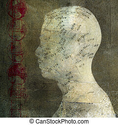 Wellness  - Acupuncture head. Photo based illustration.