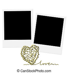 Cards for Valentine's Day or wedding