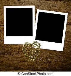 Two instant photo frames Valentines day