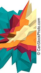 Vector abstract polygonal background