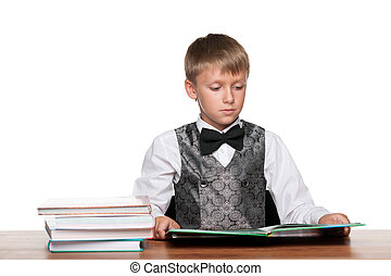Young boy at the desk