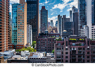 View of buildings in the Turtle Bay neighborhood, from a...