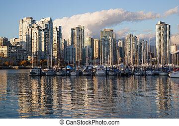 incrível, foto, de, Vancouver, porto, Vancouver,...