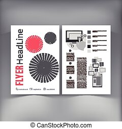 Abstract Brochure Flyer design vector template vector...