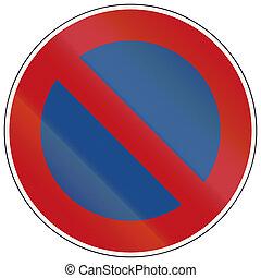 No Parking - German traffic sign: No parking along...