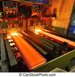 Torch Cutting inside of steel  plant