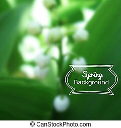 Vector blurred nature spring green background
