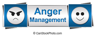 Anger Management Two Button Style - Banner image with anger...