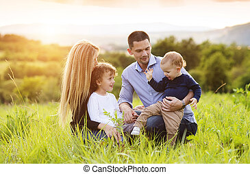 Happy family - Happy young family spending time together...