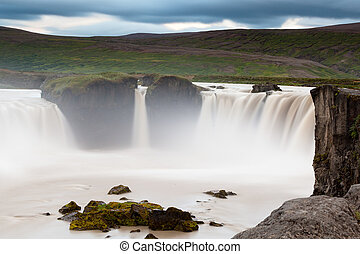 Godafoss waterfall - Icelandic waterfall Godafoss
