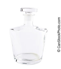Empty glass decanter carafe isolated - Empty glass decanter...