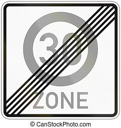 End Of No Parking Zone - German traffic sign: End of no...