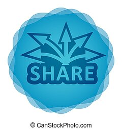 Share icon, Communication concept for your design