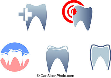 Dental signs and symbols for medicine icons