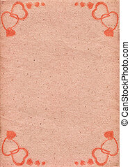 Pale-pink paper with pattern in form of hearts. Love....