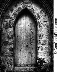 San Xmun Chapel - Gothic doorway to St Simeon Chapel in...