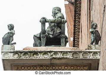 Ferrara (Italy) - Ferrara (Emilia-Romagna, Italy): closeup...