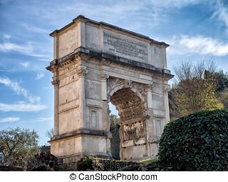 Arch of Titus, Forum Romanum, Rome, Italy - Arch of Titus,...