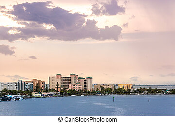 Fort Myers, Florida - A view of the buildings by the water...