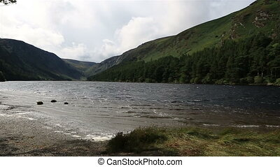 Upper Lake after rain in Glendalough - Upper Lake after rain...