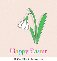 Happy easter card - Beautiful vector happy easter card with...