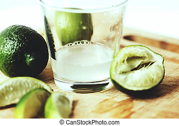 Juicy lime - Citrus. Juicy lime on the board
