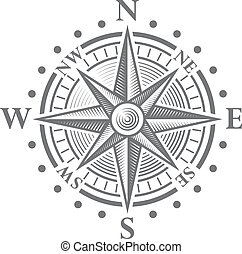 Vector Compass Rose - Illustration of a Vector hi quality...