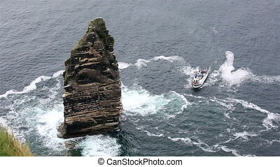 Cliffs of Moher Cruise. Most famous landmark in Ireland.