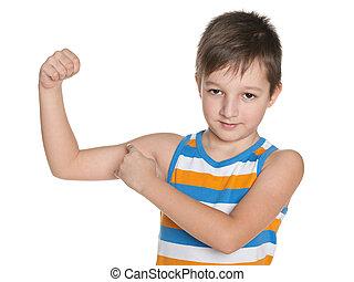 Strong little boy