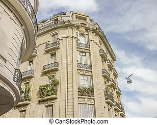 San Telmo Buildings in Buenos Aires - Low angle view of...