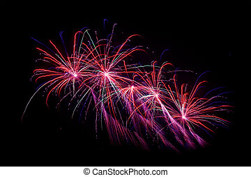Fireworks at new years eve - Variety of fireworks at new...