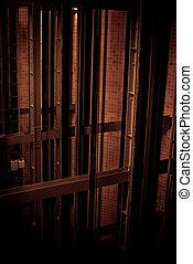 Elevator shaft en dark colors