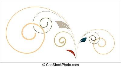 Vintage Swirl Design Elements